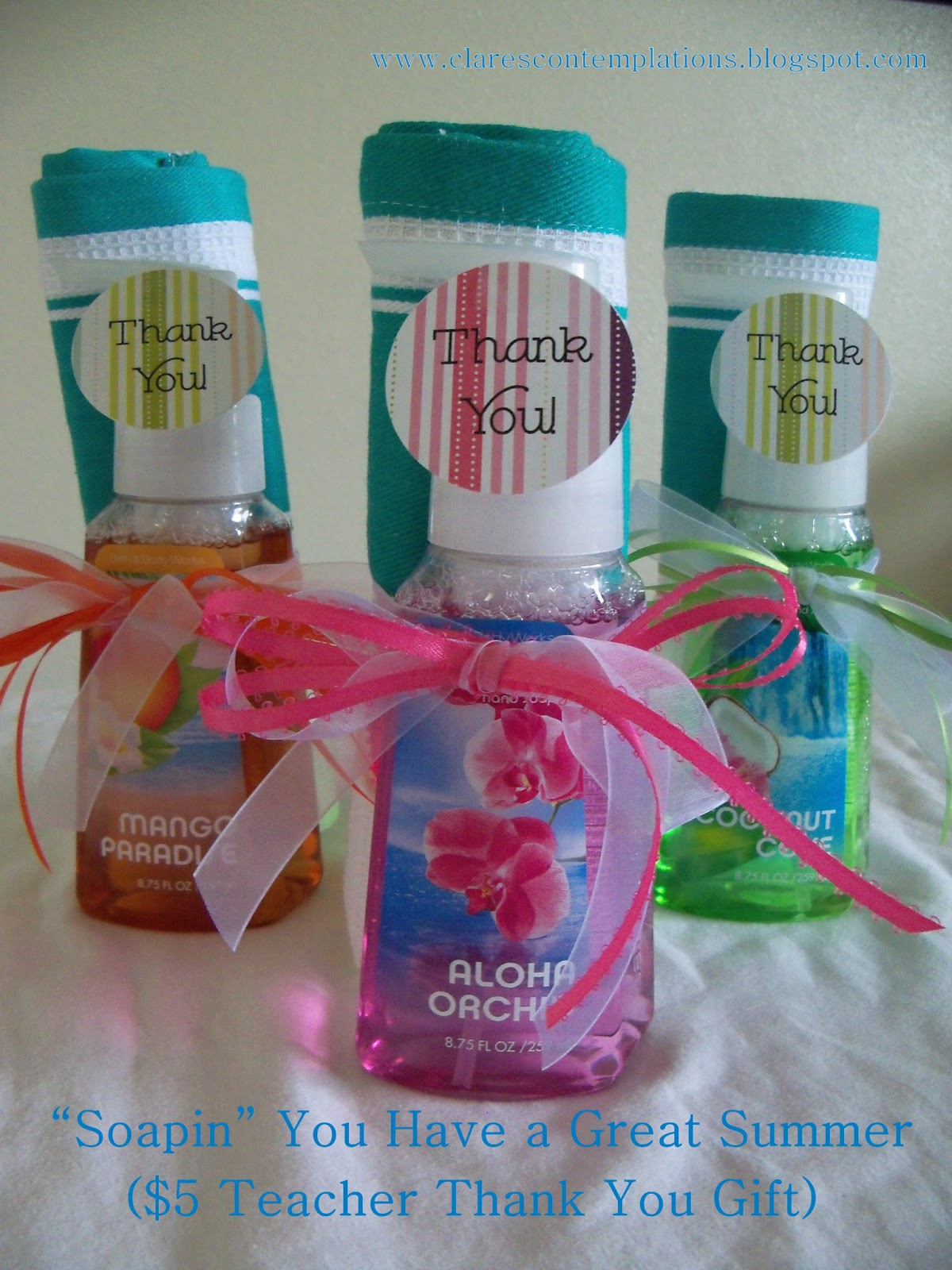 Clare 39 s contemplations teacher thank you handsoap set for Super cheap gift ideas
