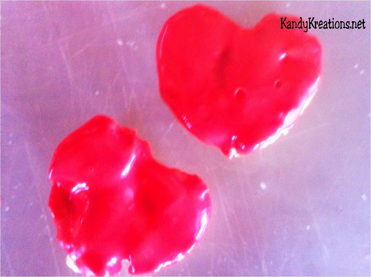chocolate rice Krispie Hearts