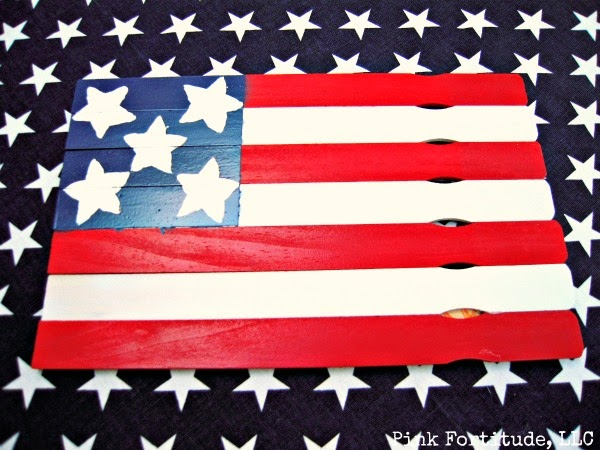 Flag Made From Paint Sticks