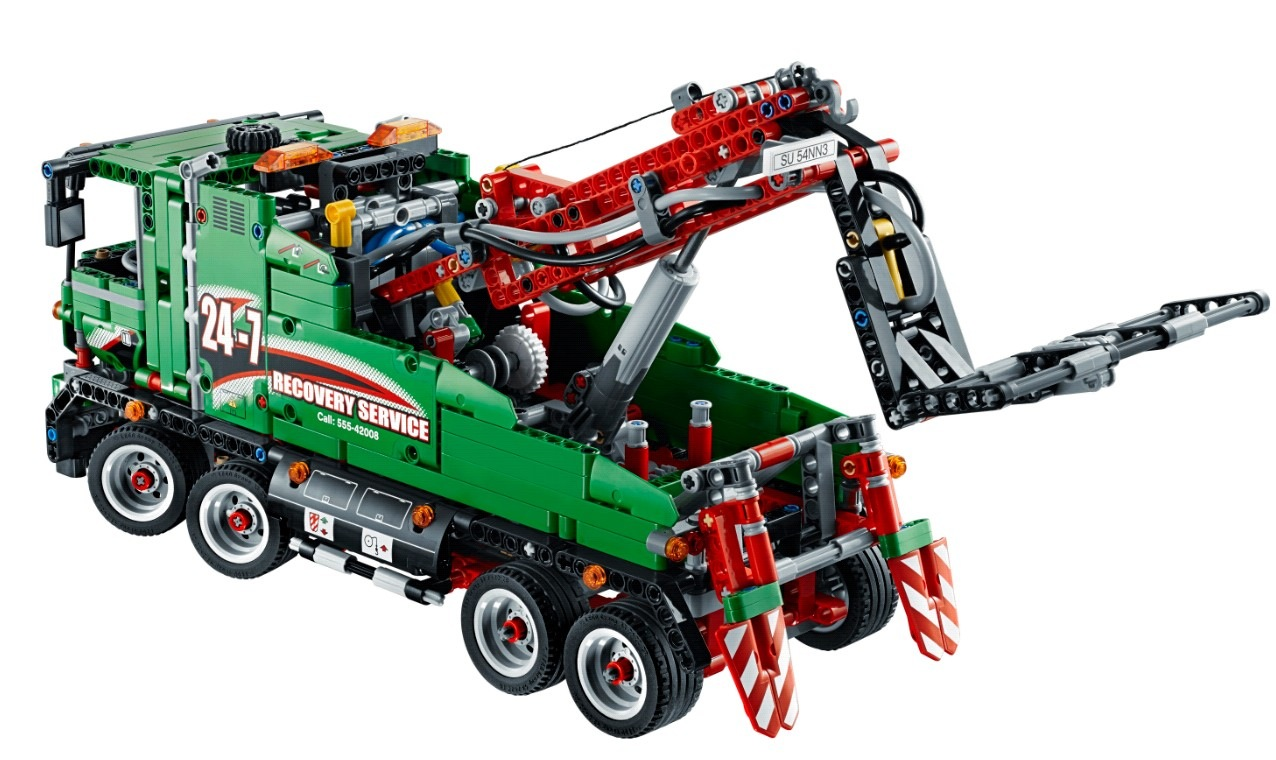 my lego style lego technic service truck 42008. Black Bedroom Furniture Sets. Home Design Ideas
