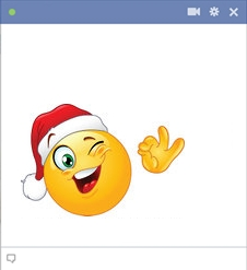 Winking Santa Smiley for Facebook