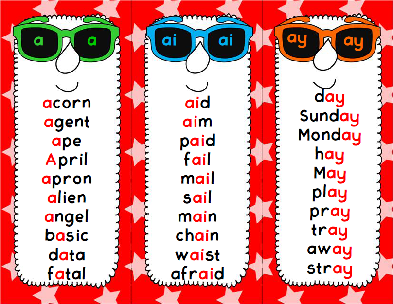 http://www.teacherspayteachers.com/Product/Shades-of-a-Long-Vowel-Sound-Spelling-Pattern-Activities-1097855
