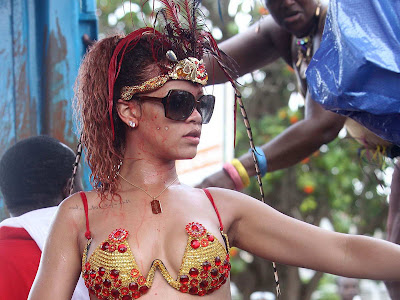 Rihanna in sexy outfit for Kadooment Day