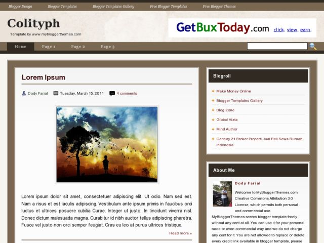 Colityph Blogger Template