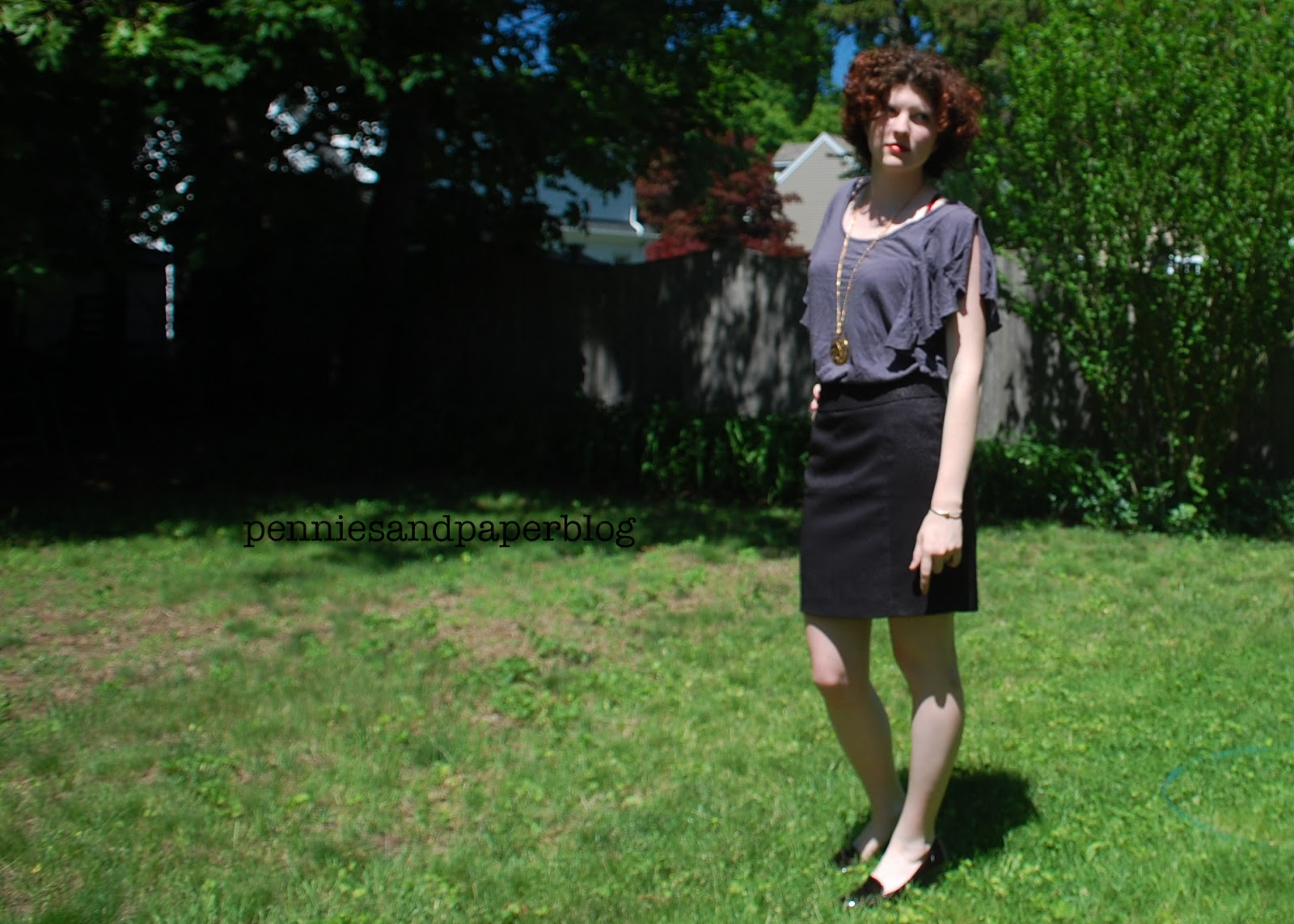 TJ Maxx skirt loose blouse thrift