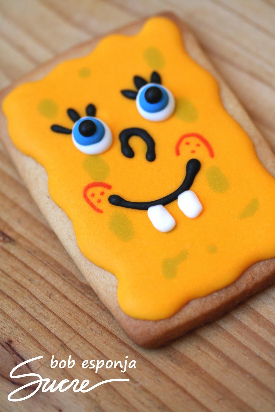 galetes decorades de Bob Esponja, dibuixos animats, galletas decoradas de Bob Esponja, dibujos animados