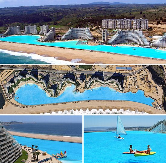 World s largest swimming pool guinness world records chile 39 s san alfonso del mar resort most for Most amazing swimming pools in the world