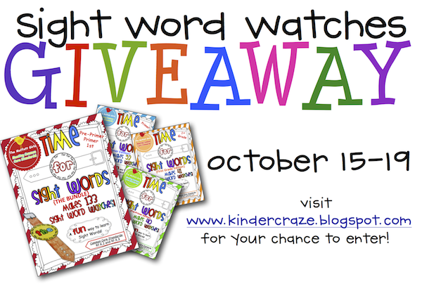 Time for Sight Words (the Bundle) Giveaway at Kinder-Craze