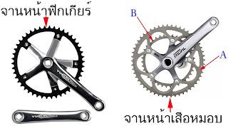 ชุดจาน จักรยานฟิกเกียร์