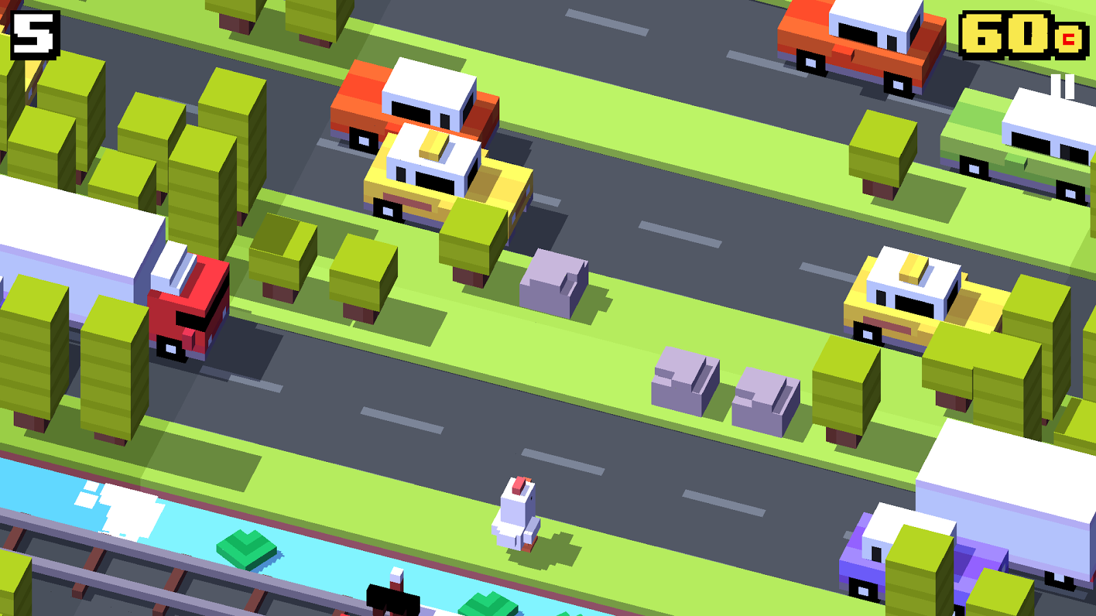 Crossy Road Oyun Görüntüsü