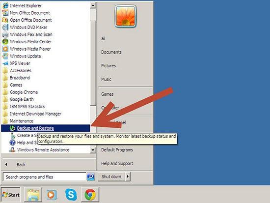 كيفية إنشاء استرداد النظام ويندوز 2013 1.jpg