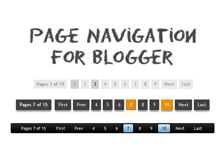 Add Numbered page navigation widget for blogger