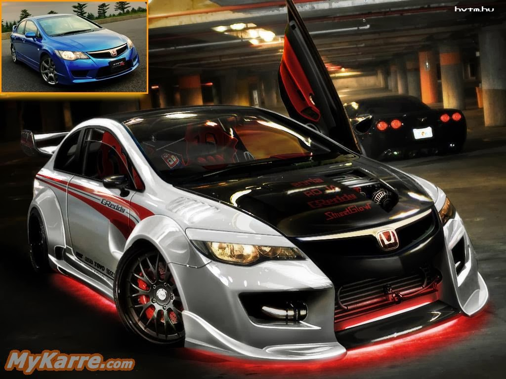 honda civic type r turbo white black wide body kit. Black Bedroom Furniture Sets. Home Design Ideas