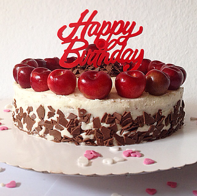 Cake Black Forest Birthday : Baking is Love: black forest birthday cake.