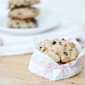 Honey We're Healthy: Blueberry Almond Scones (The ...