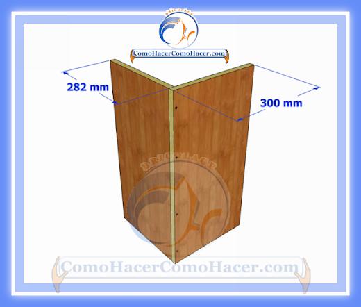 Esquinero de cocina plano y medidas web del bricolaje for Mueble esquinero cocina medidas