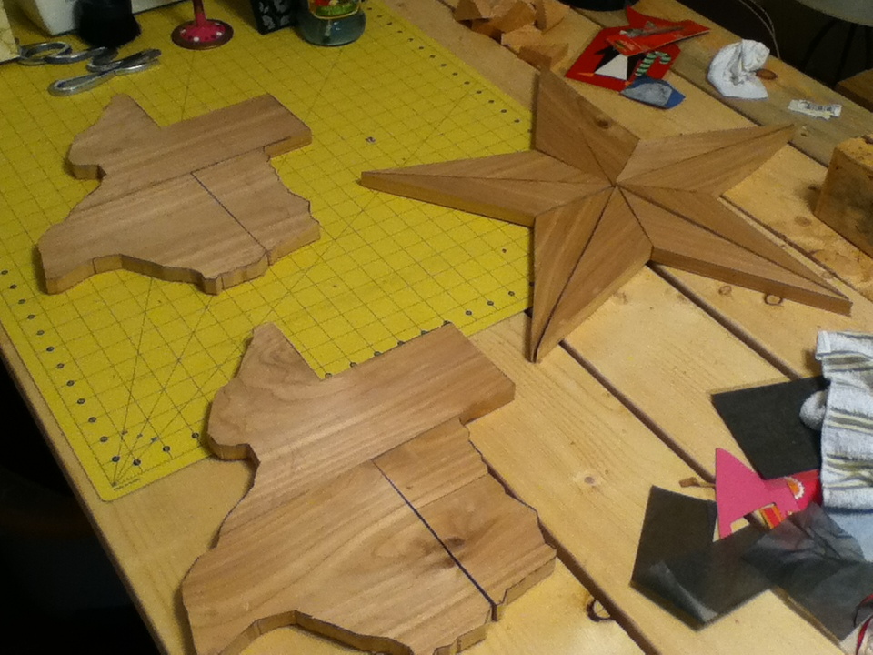 Handmade Rustic Furniture and Texas Woodcrafts: Texas Star and State ...