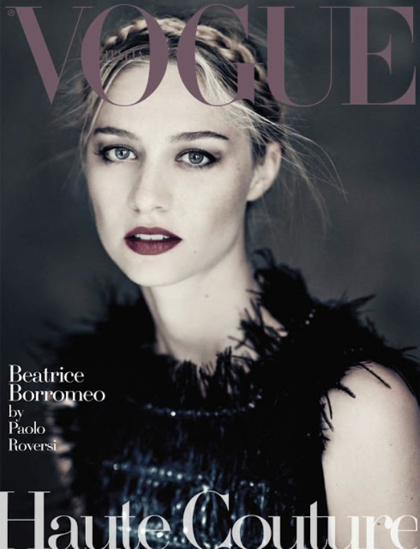 Beatrice Borromeo On The Cover Of Vogue Italy Magazine For September 2015