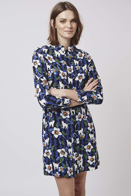 topshop cat print dress, cat print dress,