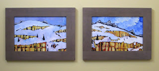 snowy | landscape | painting | framed