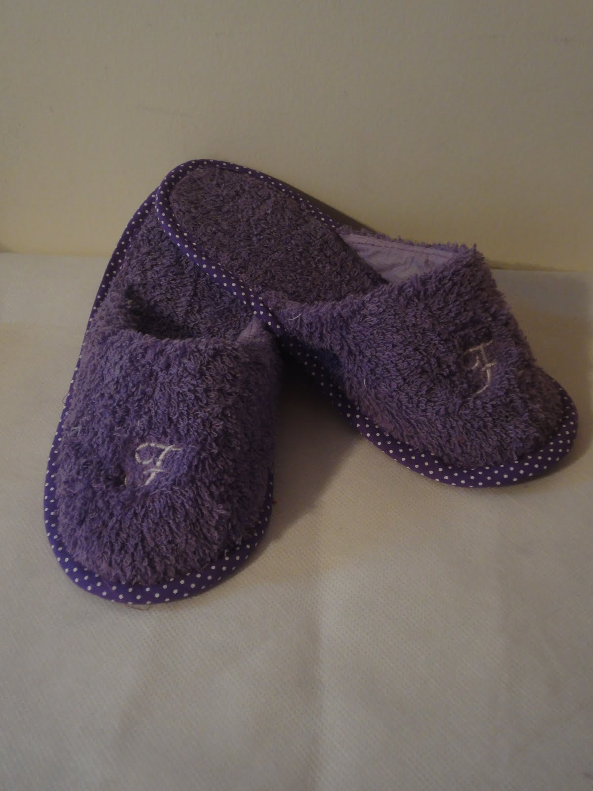 Pantuflas en toalla 15 años souvenirs