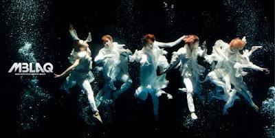 MBLAQ Cry members underwater