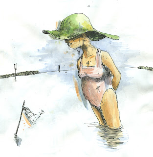 wrightsville beach fishing lady