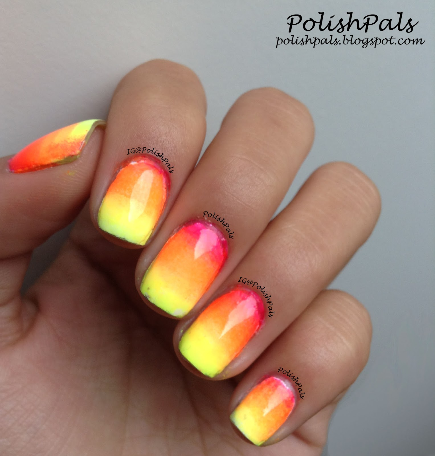 Hot Pink And Orange Nails | Best Nail Designs 2018