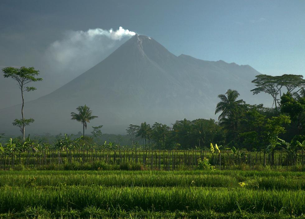 Merapi Mount Indonesia Volcano