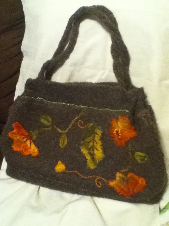 Rosy Creations: Knitted Felted Purse
