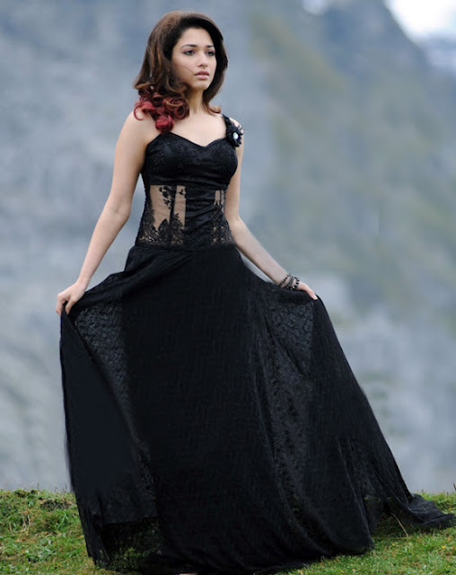 Tamanna in Black Dress Photo Gallery