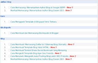 Cara Membuat / Memasang Daftar Isi / Sitemap Blog Otomatis Cara Membuat / Memasang Daftar Isi / Sitemap Blog Otomatis