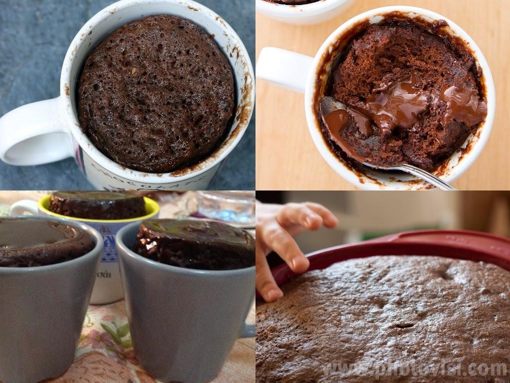 طريقة عمل كعكة الفنجان بدقيقتين !!