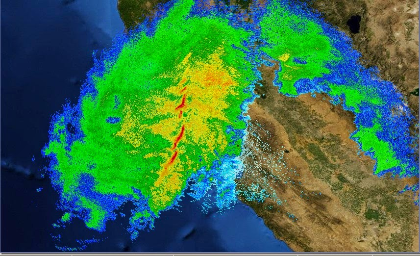 Record California Rain Storm Radar Loop