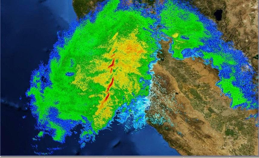 Record California Rain Storm Radar Loop