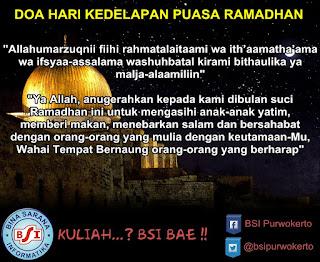 Doa Hari Ke-8 (Kedelapan) Puasa Ramadhan 1436 Hijriah