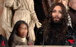 Concert pro-LGBT cu travestitul Conchita Wurst în catedrala Sfântul Ștefan din Viena