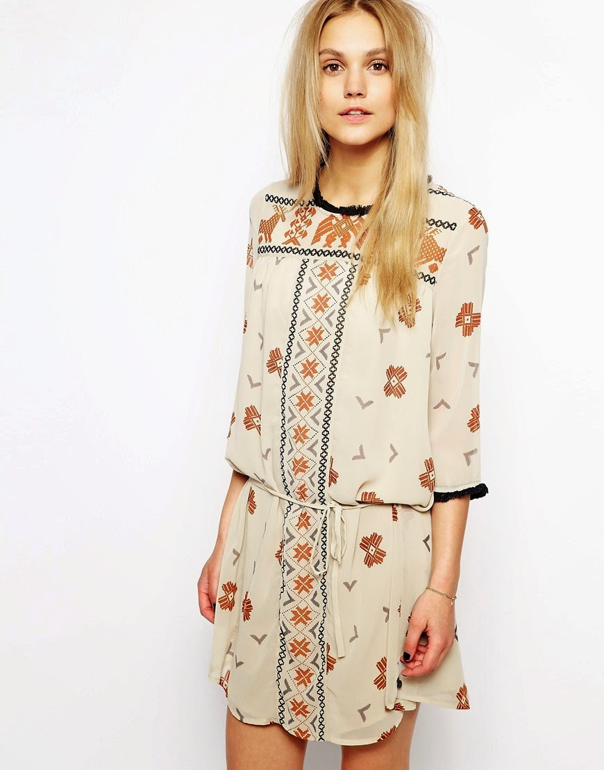 maison scotch cream dress
