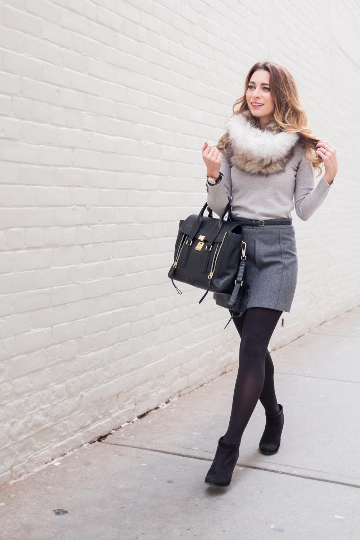 faux fur snood asos phillip lim pashli outfit