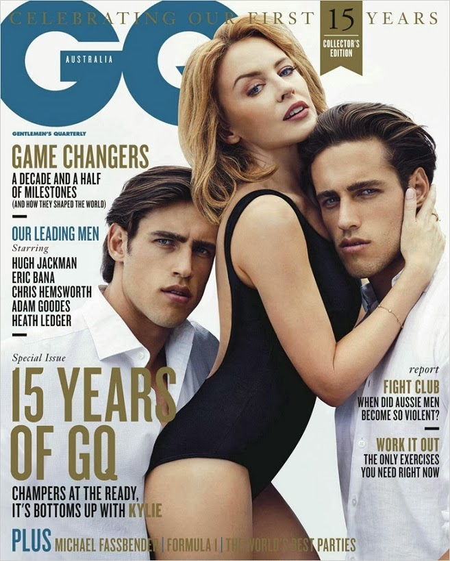 Kylie Minogue features as the cover girl of GQ Australia March/April 2014