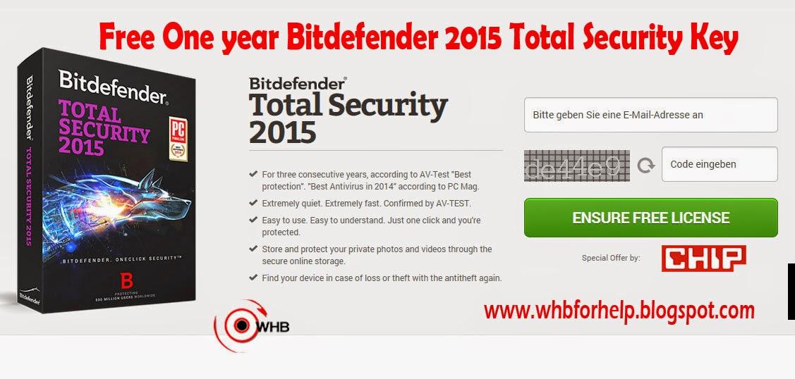 bitdefender 2015 free code