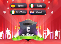 Euro 2012 logo and group C