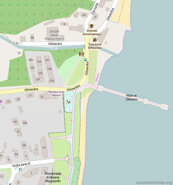 Gdynia Orłowo Mapa