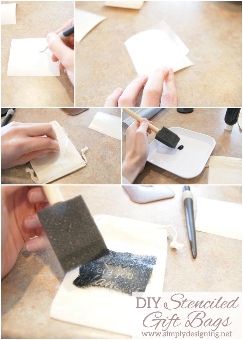 How to Stencil a Cotton Drawstring Bag | cute cotton drawstring bags ...
