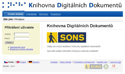 www.kdd.cz - screenshot titulní stránky