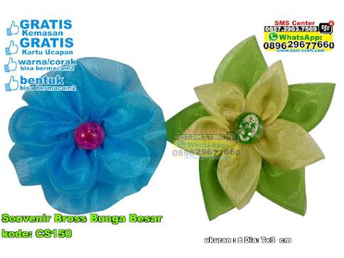 Souvenir Bross Bunga Besar