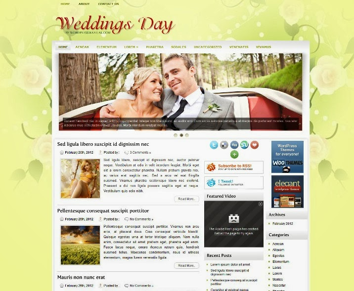 WeddingsDay Free WordPress Theme