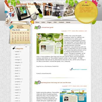 Belgium Shared by All blogger template