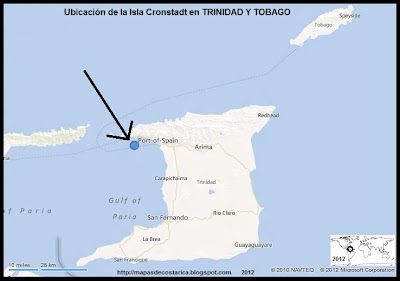 Isla Cronstadt , Ubicacion de la Isla Cronstadt en TRINIDAD Y TOBAGO