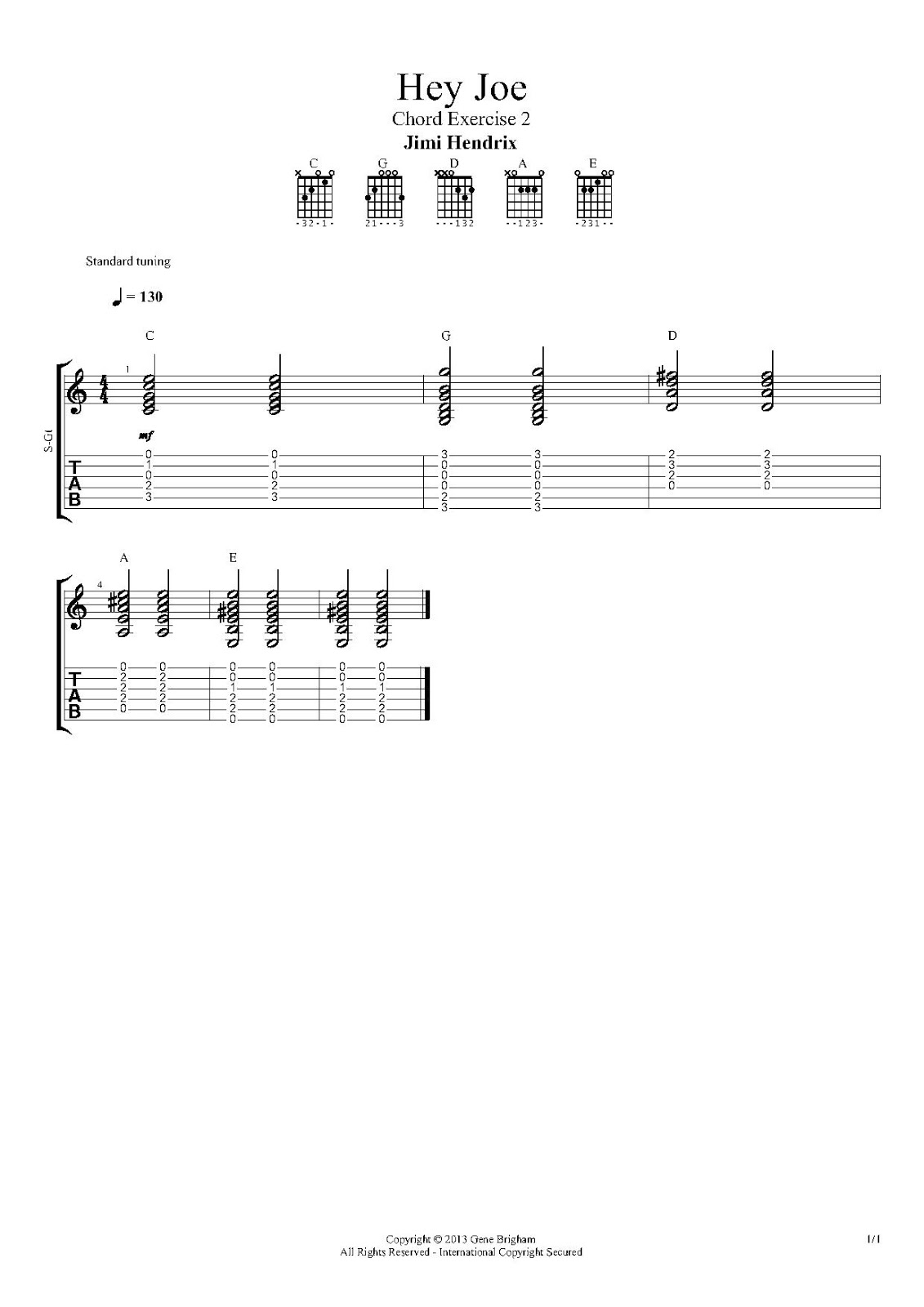 Beginning Guitar The 1st String A Few More Chords